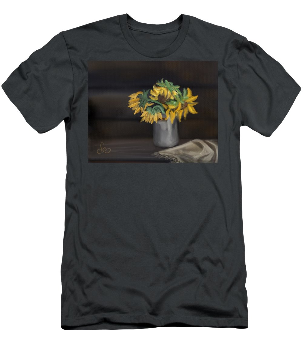 Men's T-Shirt (Athletic Fit) featuring the painting The Sun Flowers by Fe Jones