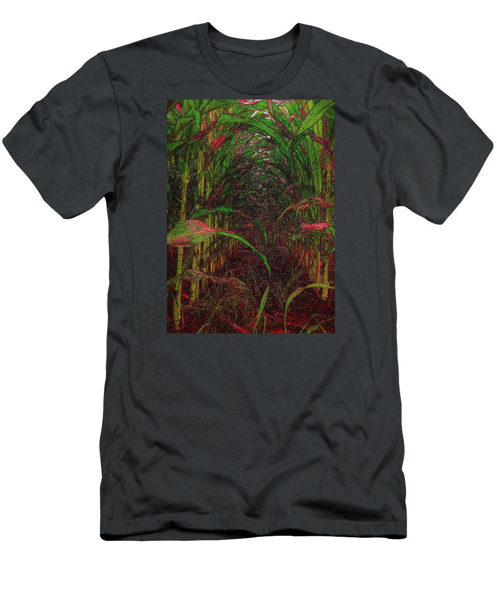 Landscape Men's T-Shirt (Athletic Fit) featuring the digital art Cathedral Of Corn by Barbara Brace