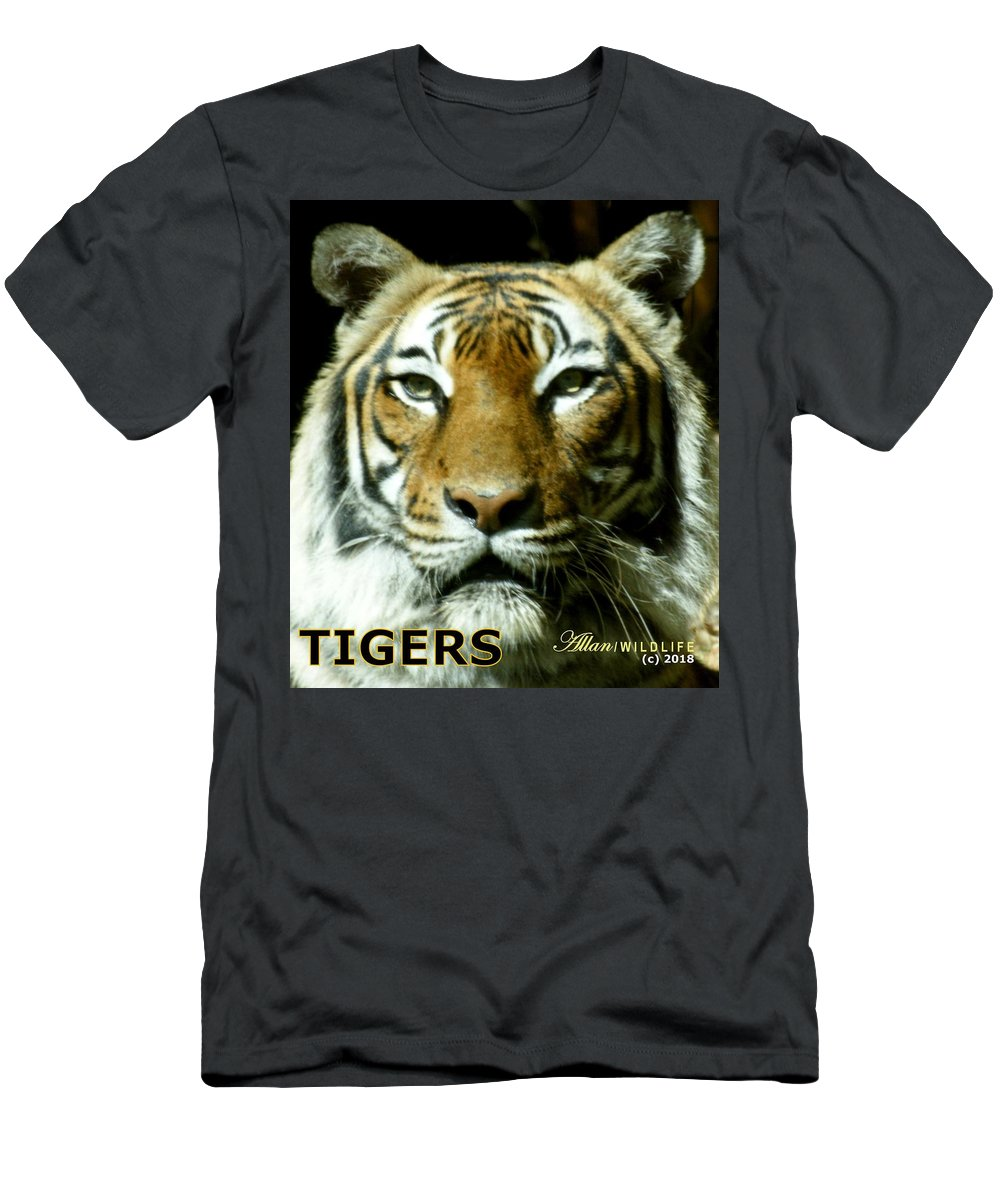 Tigers Men's T-Shirt (Athletic Fit) featuring the photograph Tigers Mascot 4 by Larry Allan