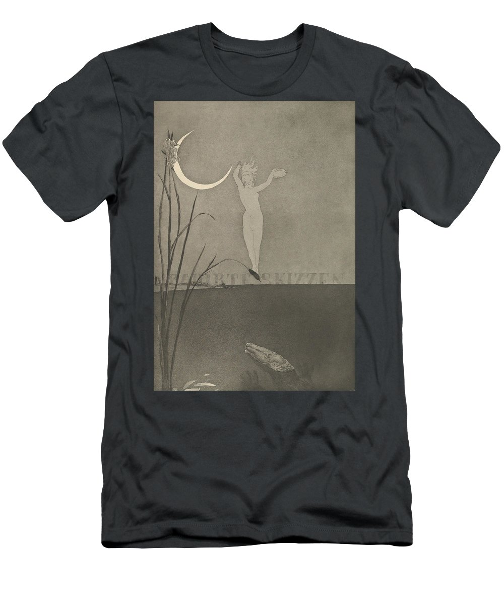19th Century Art Men's T-Shirt (Athletic Fit) featuring the relief Titelblatt From The Series Radierte Skizzen by Max Klinger