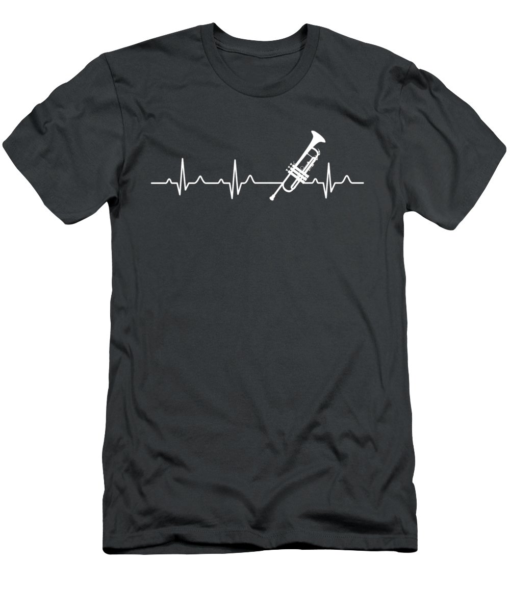 Trumpet Men's T-Shirt (Athletic Fit) featuring the digital art Trumpet Heartbeat For Your Hobbie Tees by Unique Tees