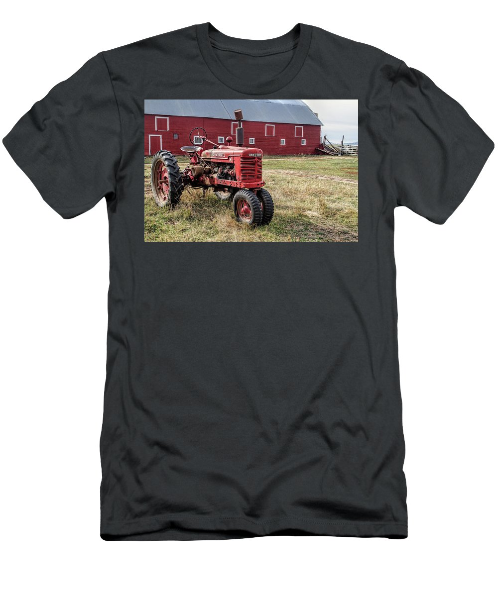 Tractor T-Shirt featuring the photograph Two Old Reds by Alana Thrower