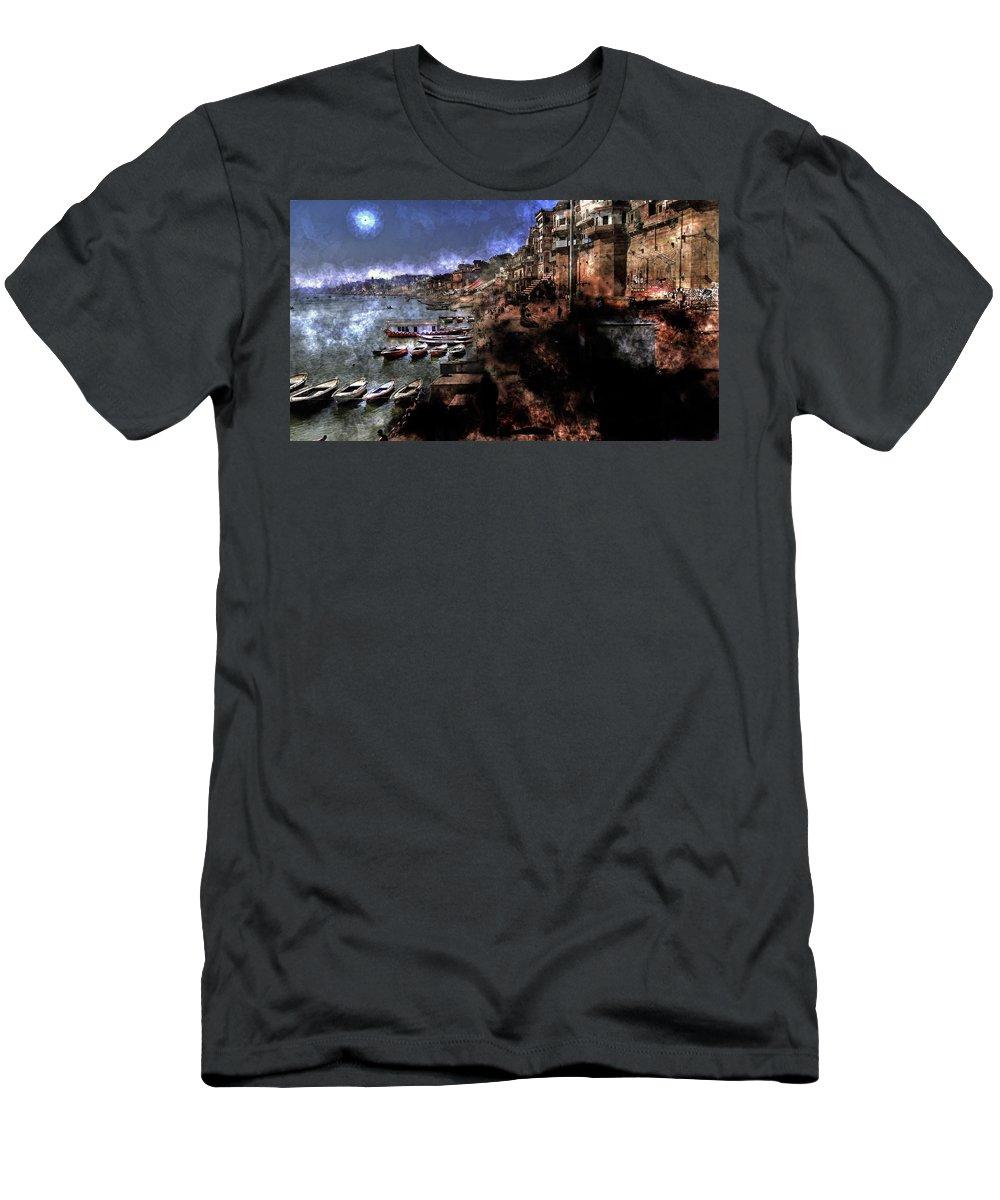 Men's T-Shirt (Athletic Fit) featuring the digital art Varanasi by Vijay Prakash