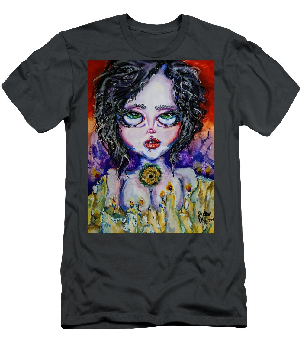 Halloween Men's T-Shirt (Athletic Fit) featuring the painting Vitriol by Jonathan Peterson