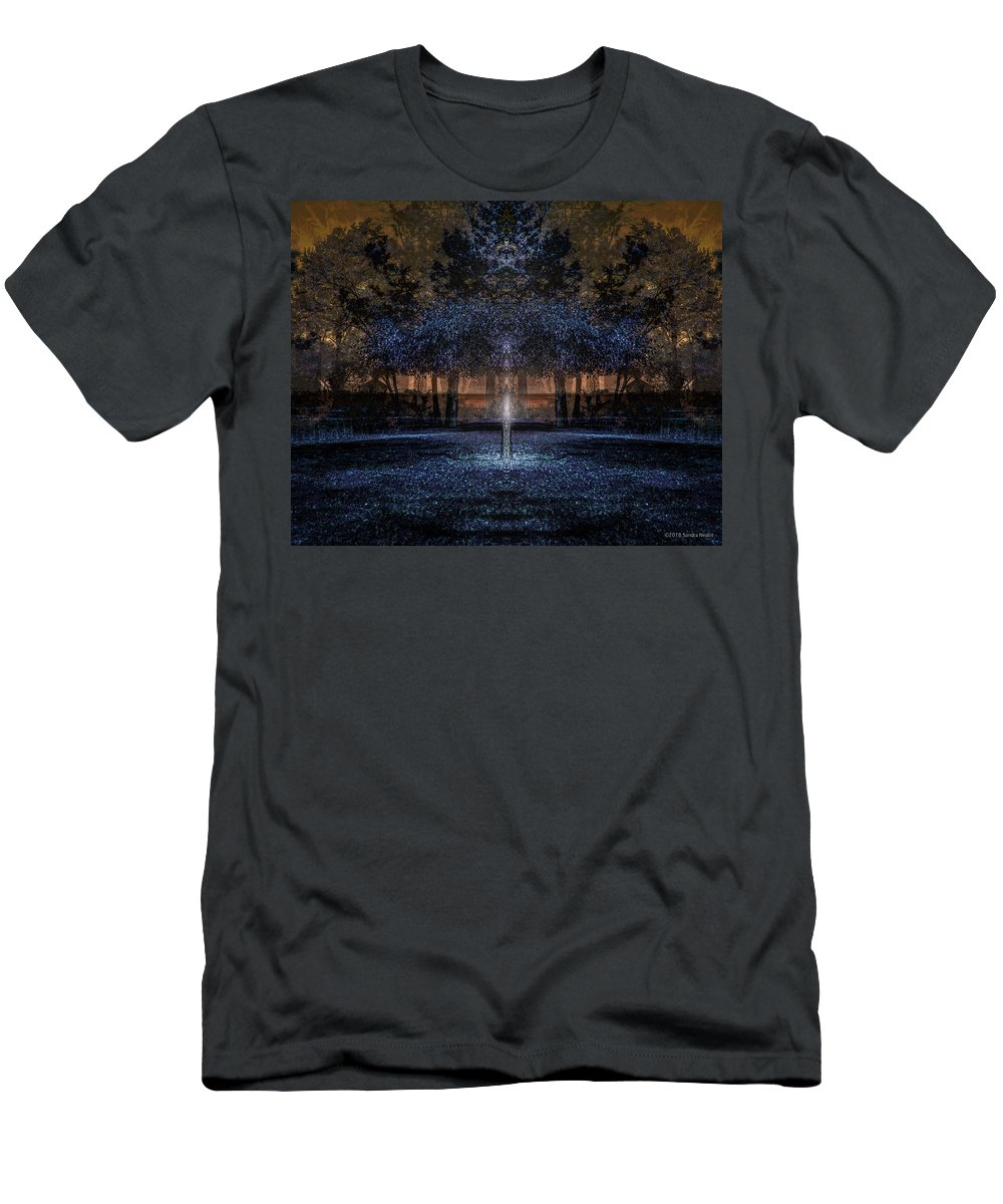 Mandala Men's T-Shirt (Athletic Fit) featuring the digital art When Courage Springs Forth by Sandra Nesbit