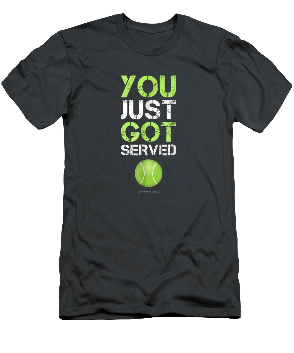 girls' Novelty Clothing T-Shirt featuring the digital art You Just Got Served Tennis T-shirt - Funny Tennis Gift Tee by Do David