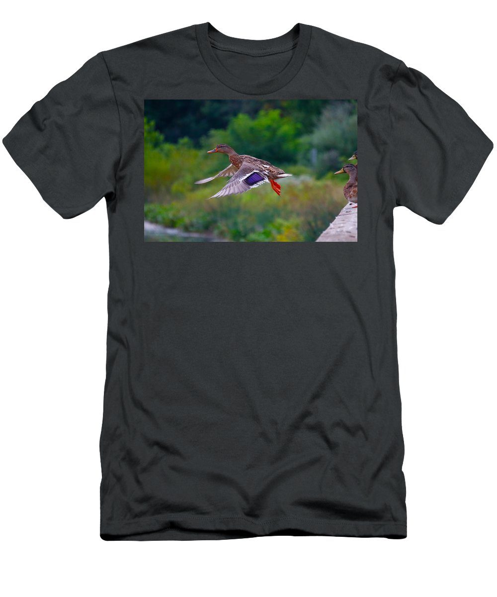 T-Shirt featuring the photograph Jump by Tony Umana