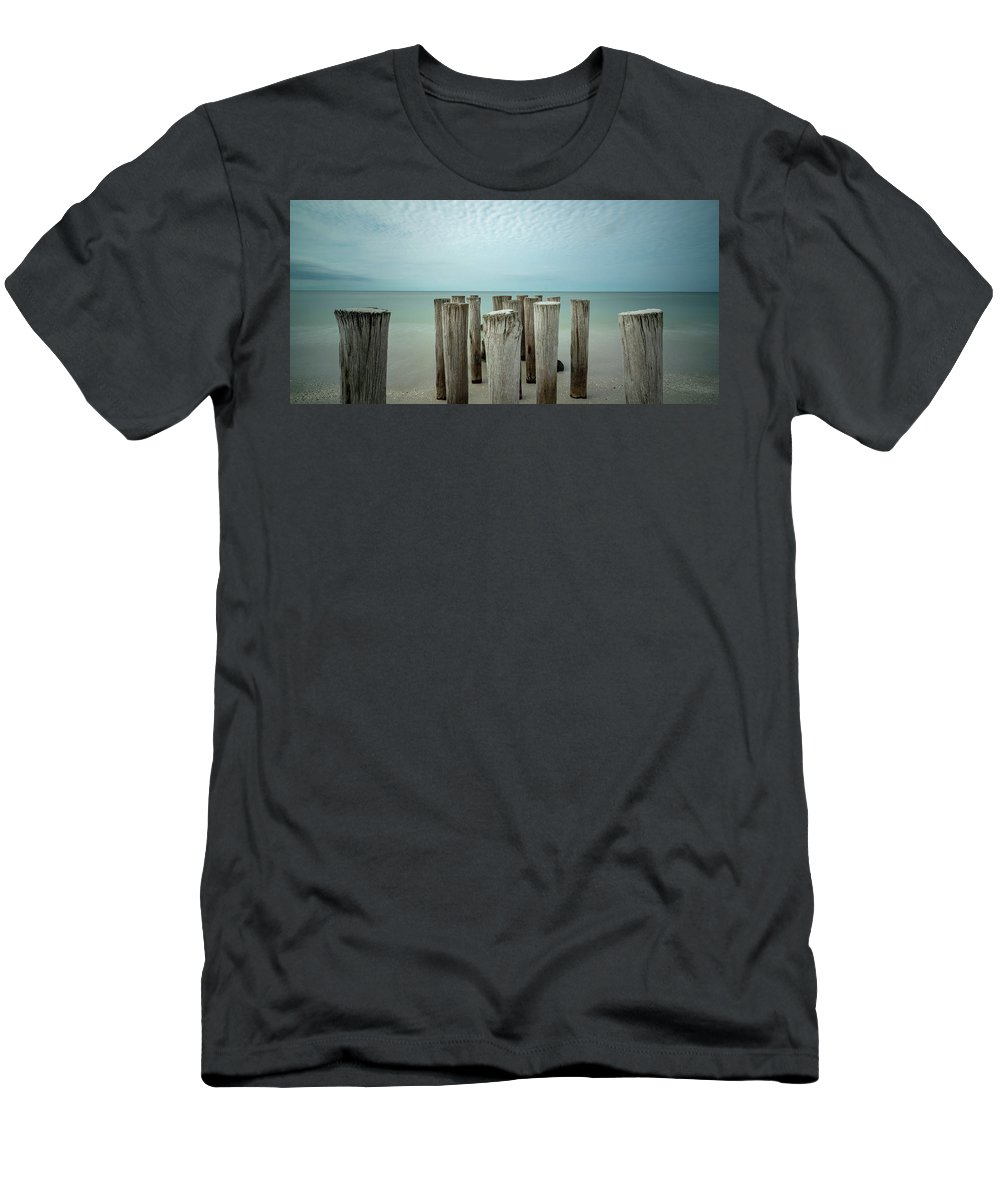 Naples Florida 2021 T-Shirt featuring the photograph Naples Pilings 2021 by Joey Waves