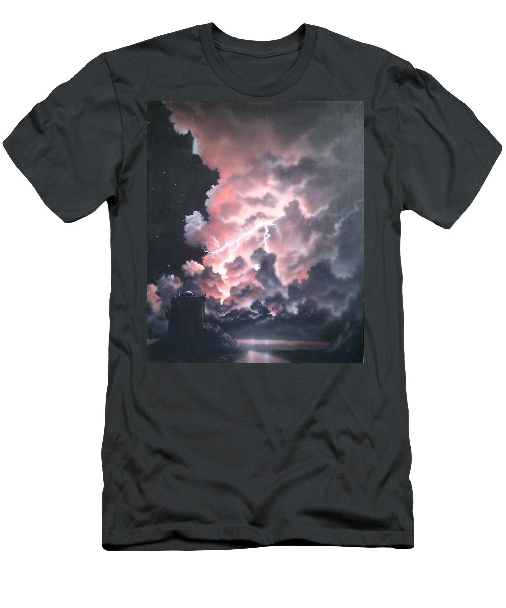 Castle T-Shirt featuring the painting Untitled 6 by Philip Fleischer