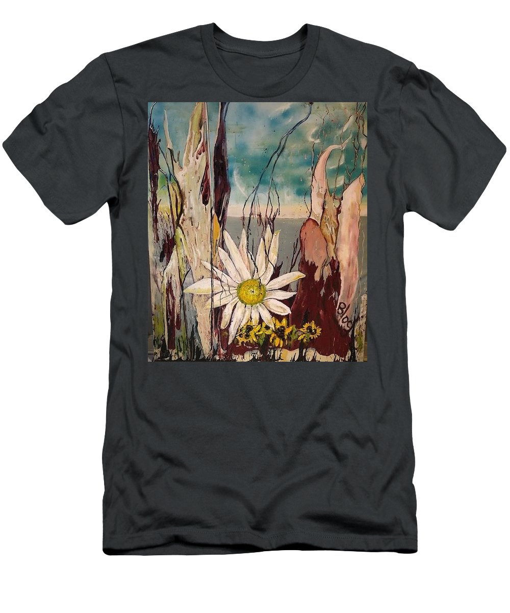 Trees T-Shirt featuring the painting A Moment by Peggy Blood