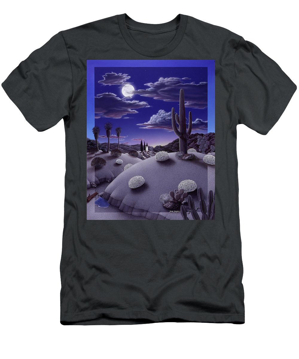 Desert T-Shirt featuring the painting After the Rain by Snake Jagger