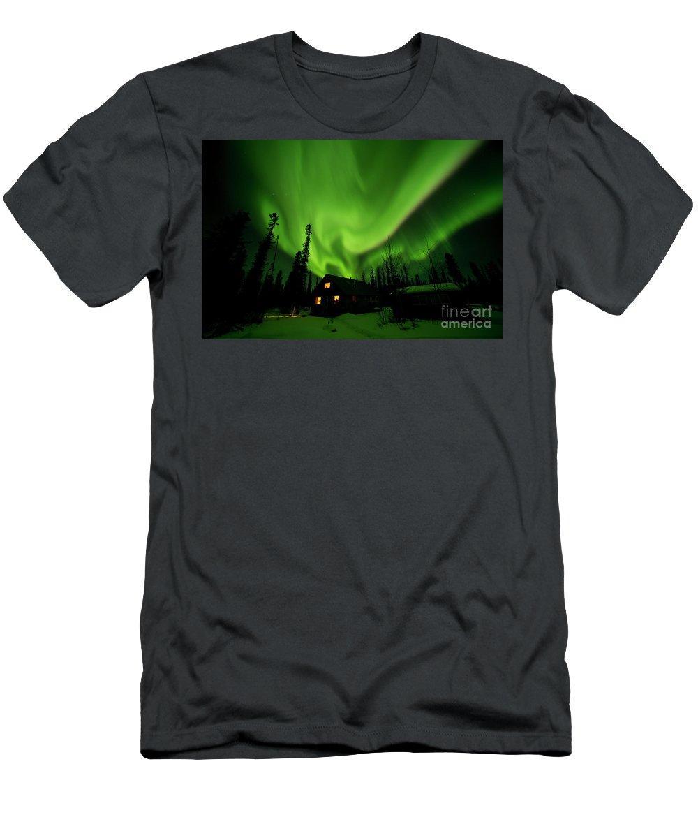 00551581 T-Shirt featuring the photograph Aurora Borealis Alaska by Michael Quinton