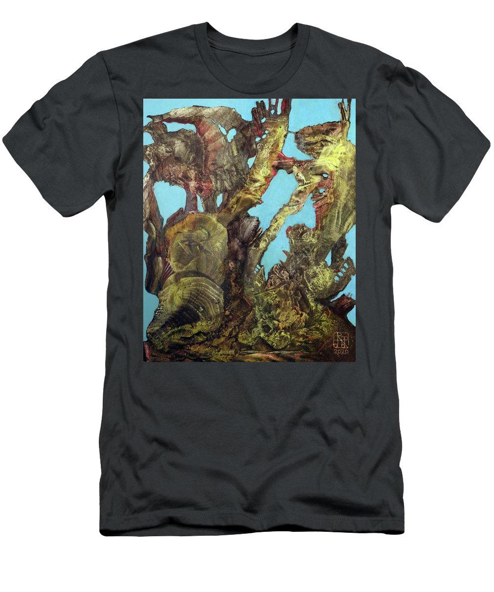 Fantasy T-Shirt featuring the painting Bogomil Alien Landscape by Otto Rapp