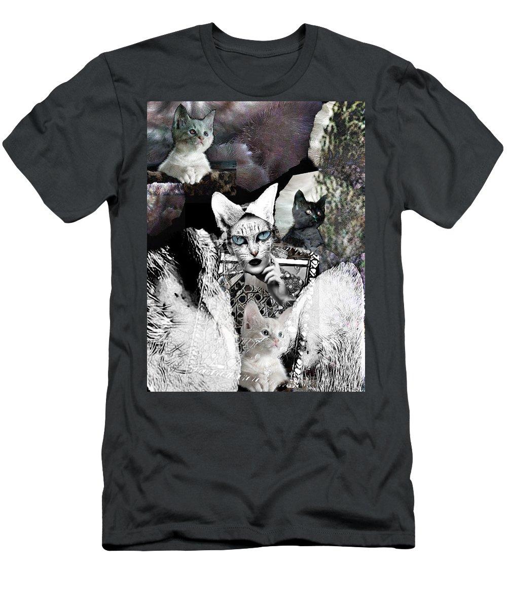 Surrealism T-Shirt featuring the digital art Catwoman by Gunilla Munro Gyllenspetz