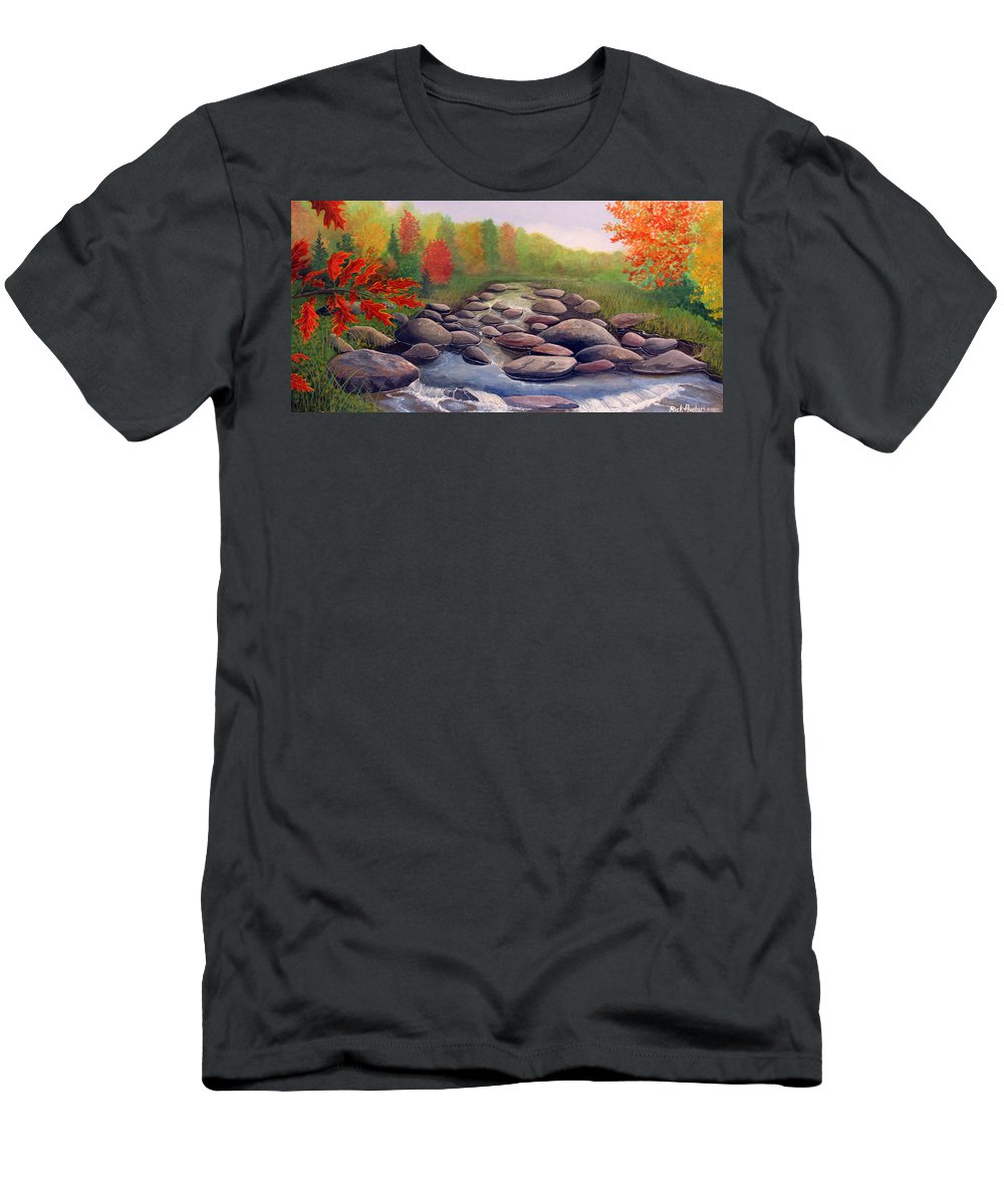Rick Huotari T-Shirt featuring the painting Cherokee Park by Rick Huotari