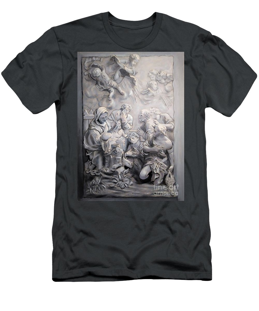 Christmas T-Shirt featuring the painting Christmas by Jose Manuel Abraham