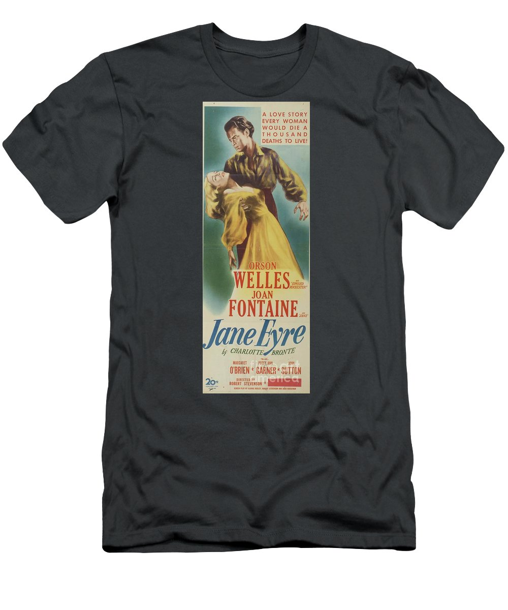 Jane T-Shirt featuring the painting Classic Movie Poster - Jane Eyre by Esoterica Art Agency
