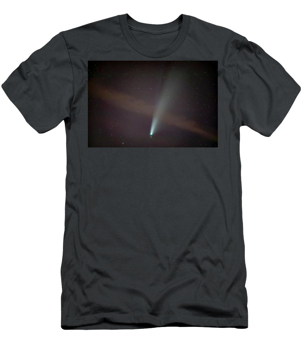 Comet T-Shirt featuring the photograph Comet Neowise by Nunzio Mannino