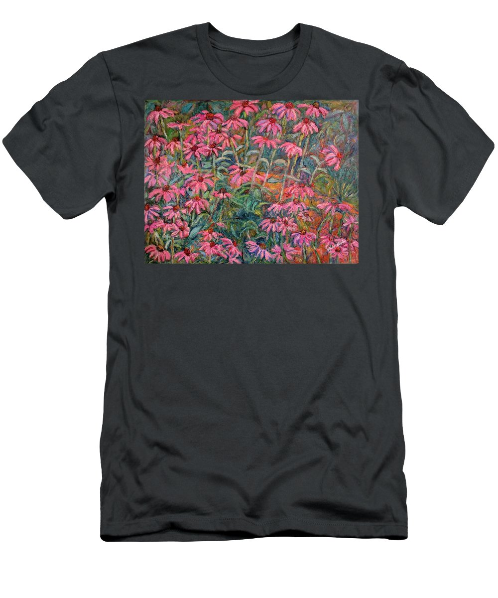 Kendall Kessler T-Shirt featuring the painting Coneflowers by Kendall Kessler