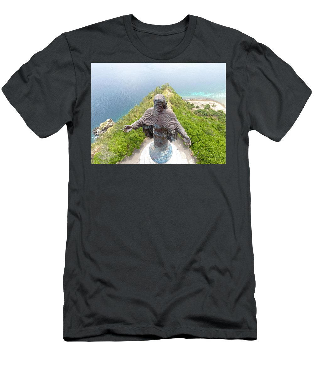 Adventure T-Shirt featuring the photograph Cristo Rei of Dili statue of Jesus by Brthrjhn2099