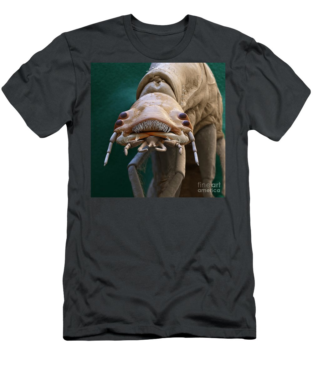 Animal T-Shirt featuring the photograph Diving Beetle Larva by Eye of Science