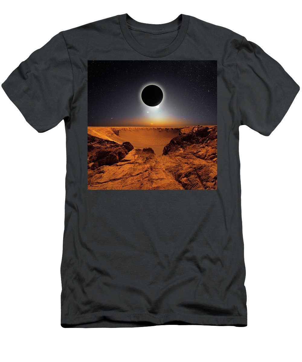 T-Shirt featuring the photograph Epicenter by Michal Karcz