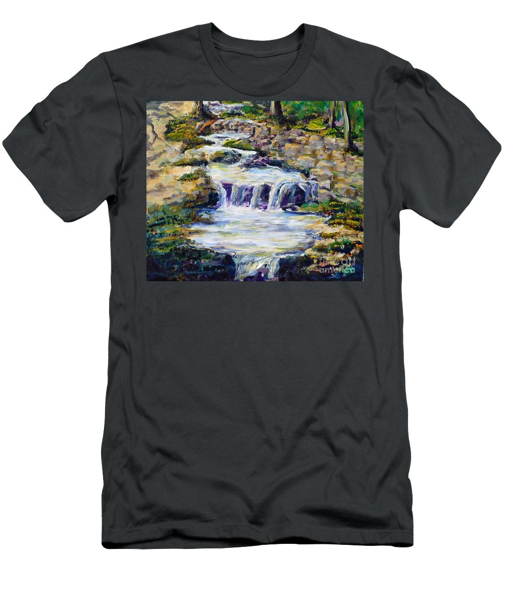 Los Angeles T-Shirt featuring the painting Fern Dell Creek Noon by Randy Sprout