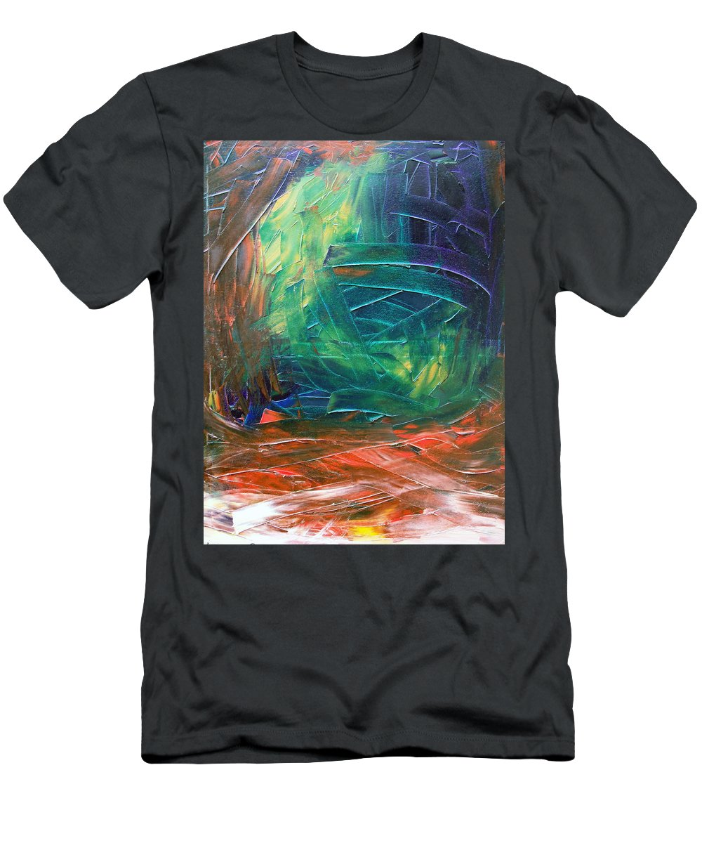 Painting T-Shirt featuring the painting Forest.Part3 by Sergey Bezhinets