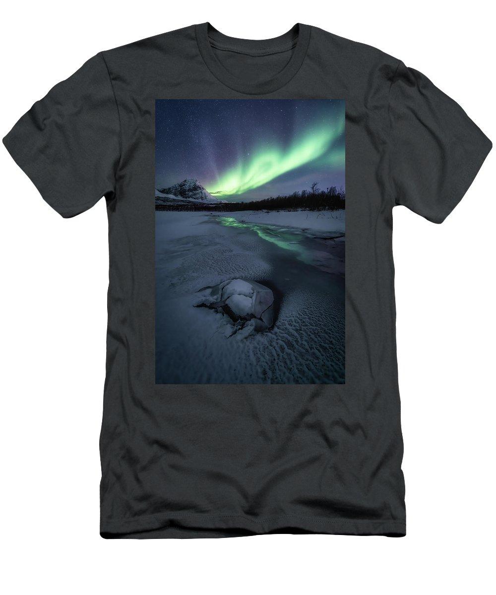 Frozen T-Shirt featuring the photograph Frozen by Tor-Ivar Naess