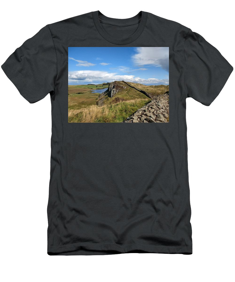Landscape T-Shirt featuring the photograph Hadrianswall by Pop