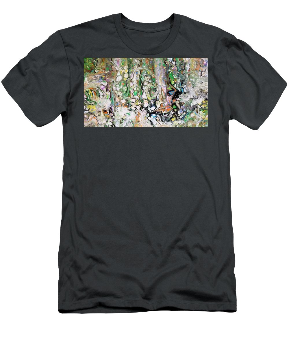 Abstract T-Shirt featuring the painting Hidden Creatures by Valerie Josi