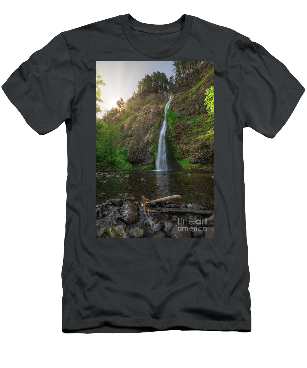 Horsetail Falls T-Shirt featuring the photograph Horsetail Falls by Michael Ver Sprill