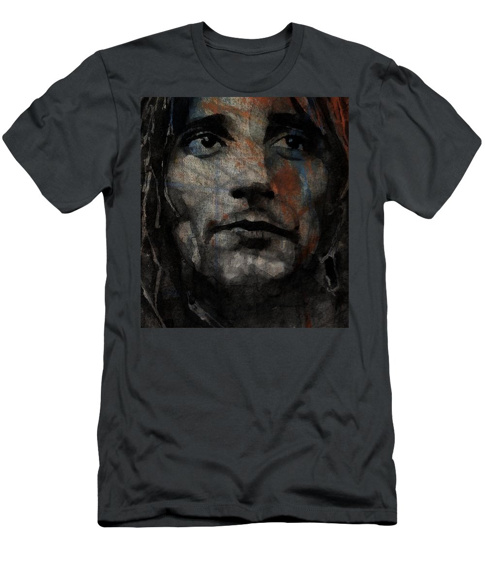 Rod Stewart T-Shirt featuring the painting I Was Only Joking by Paul Lovering