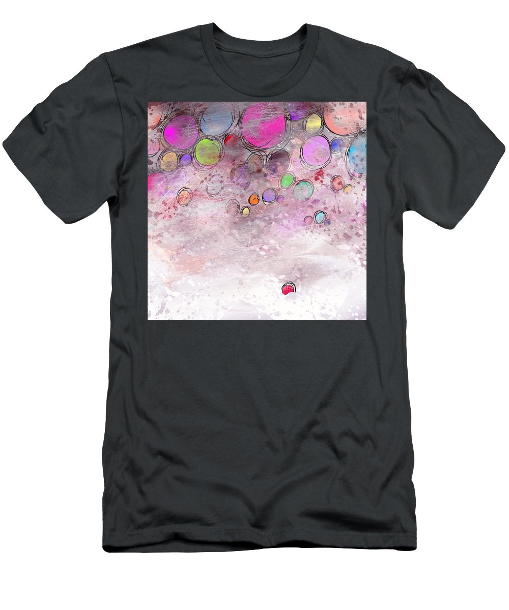 Abstract T-Shirt featuring the digital art In a world alone by William Russell Nowicki