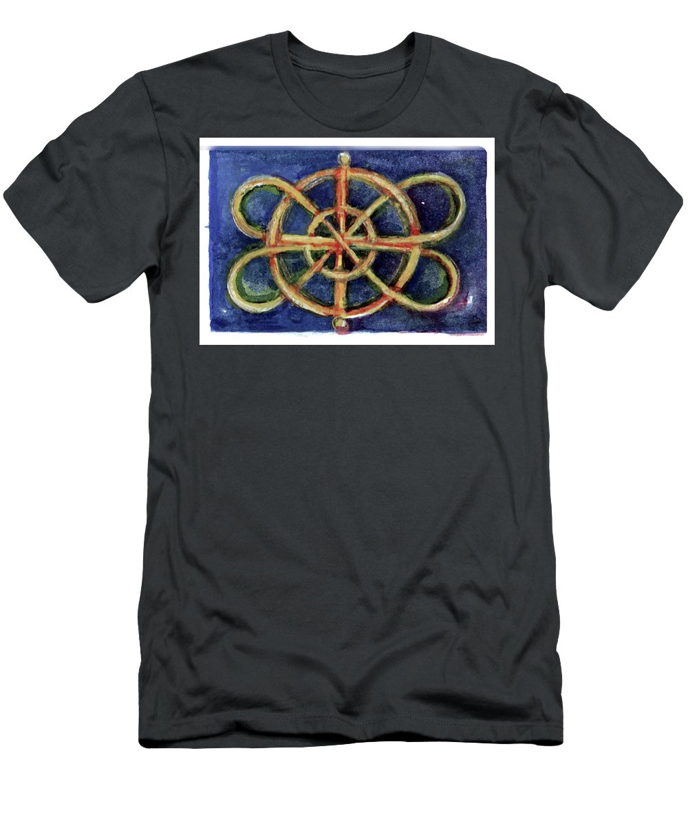 Miniature T-Shirt featuring the painting Infinity Loops by Elle Smith Fagan