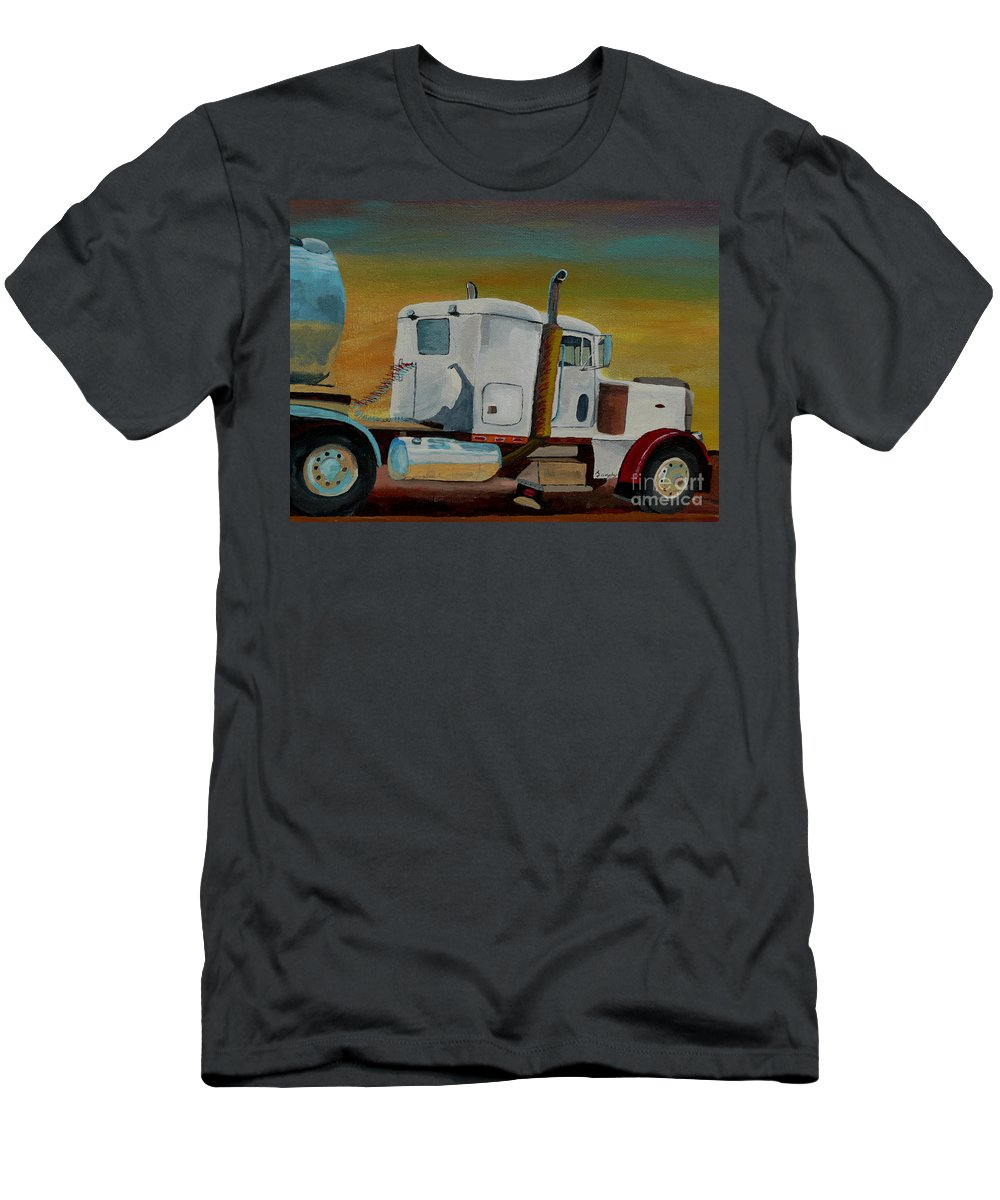 Truck T-Shirt featuring the painting King of the Road by Anthony Dunphy
