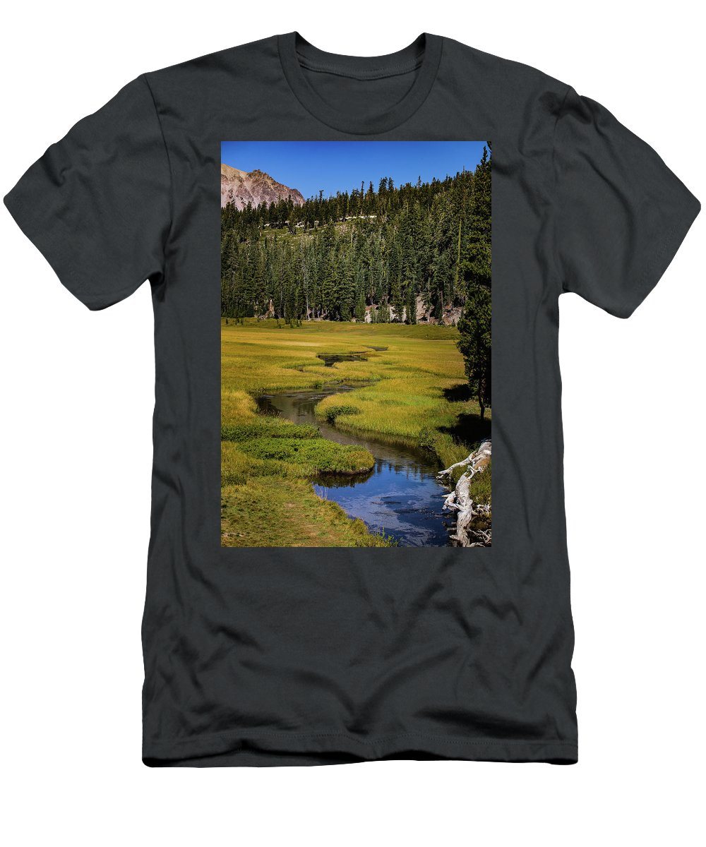 Creek T-Shirt featuring the photograph Kings Creek Meadow by John Heywood