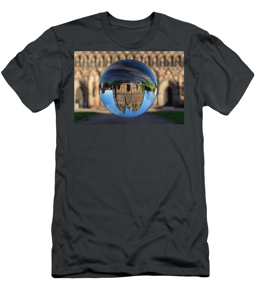 Lichfield T-Shirt featuring the photograph Lichfield lens ball by Steev Stamford