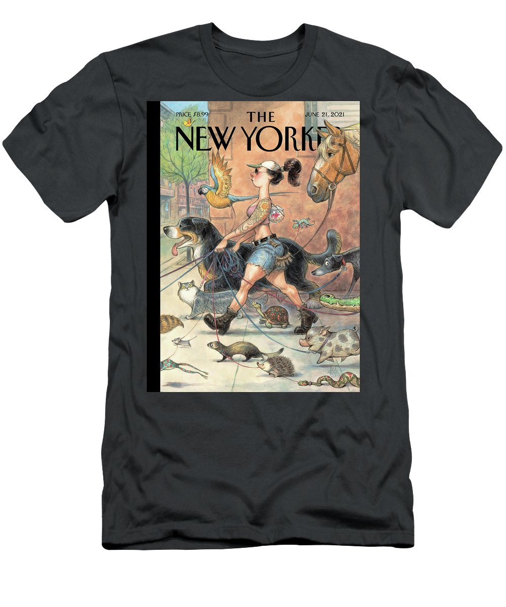 Outdoors T-Shirt featuring the painting Local Fauna by Peter de Seve