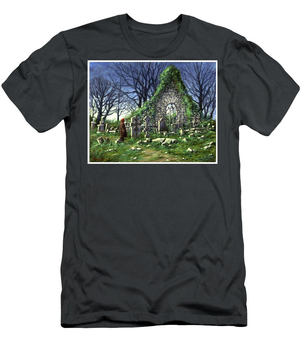 Landscape T-Shirt featuring the painting Londonderry Stones by Jim Gola