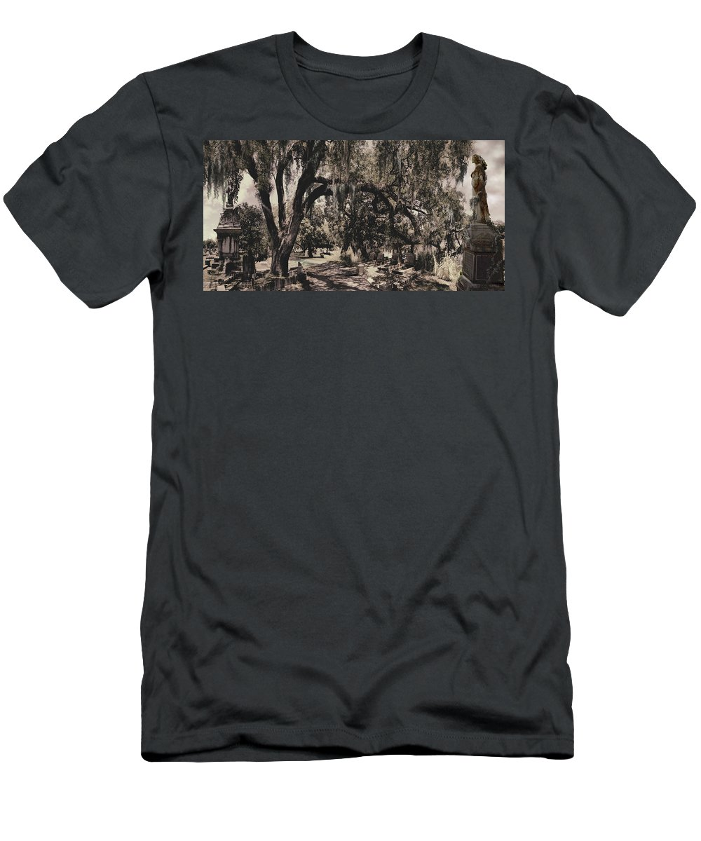 Castle T-Shirt featuring the painting Magnolia Cemetery I by James Christopher Hill