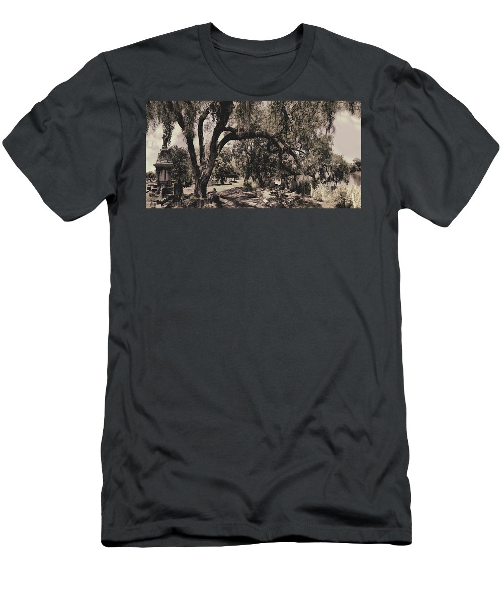 Castle T-Shirt featuring the photograph Magnolia Cemetery by James Christopher Hill