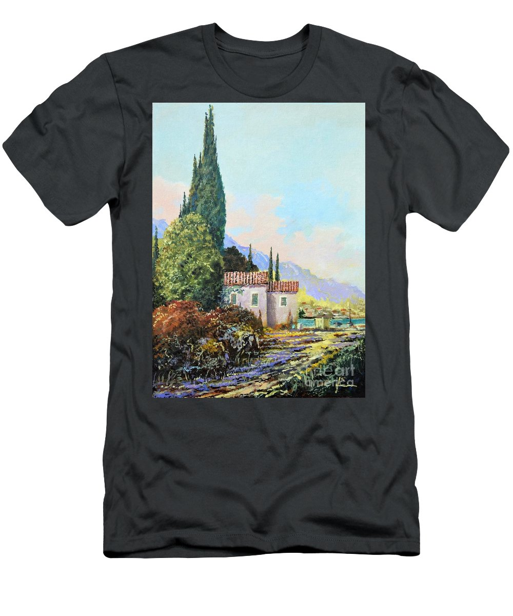 Original Painting T-Shirt featuring the painting Mediterraneo 2 by Sinisa Saratlic