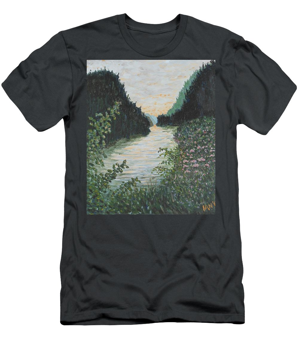 Agawa Canyon T-Shirt featuring the painting North of Sault Ste. Marie by Ian MacDonald