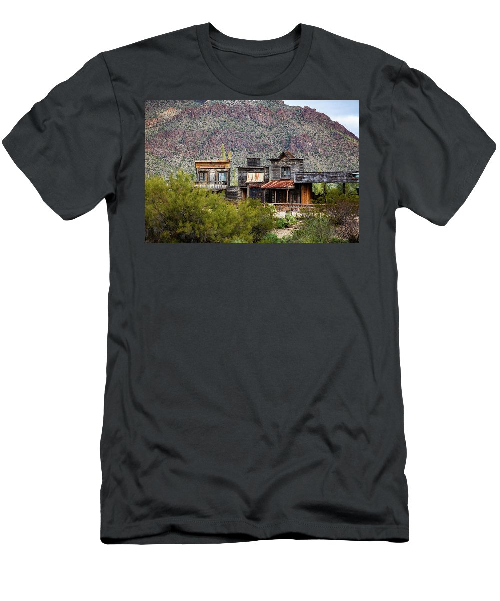 Old Tucson T-Shirt featuring the photograph Old Tucson #1 by John Heywood