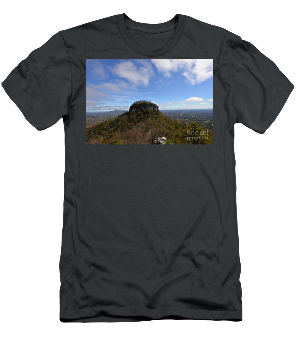 Fall T-Shirt featuring the photograph Pilot Mountain by Eric Liller