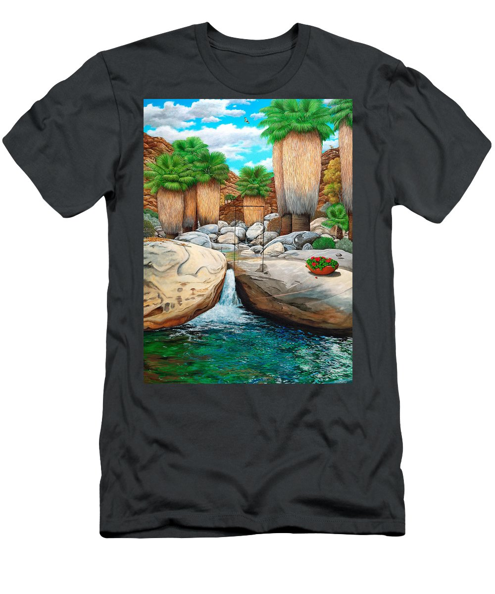 Landscape T-Shirt featuring the painting Primary Escape Route by Snake Jagger