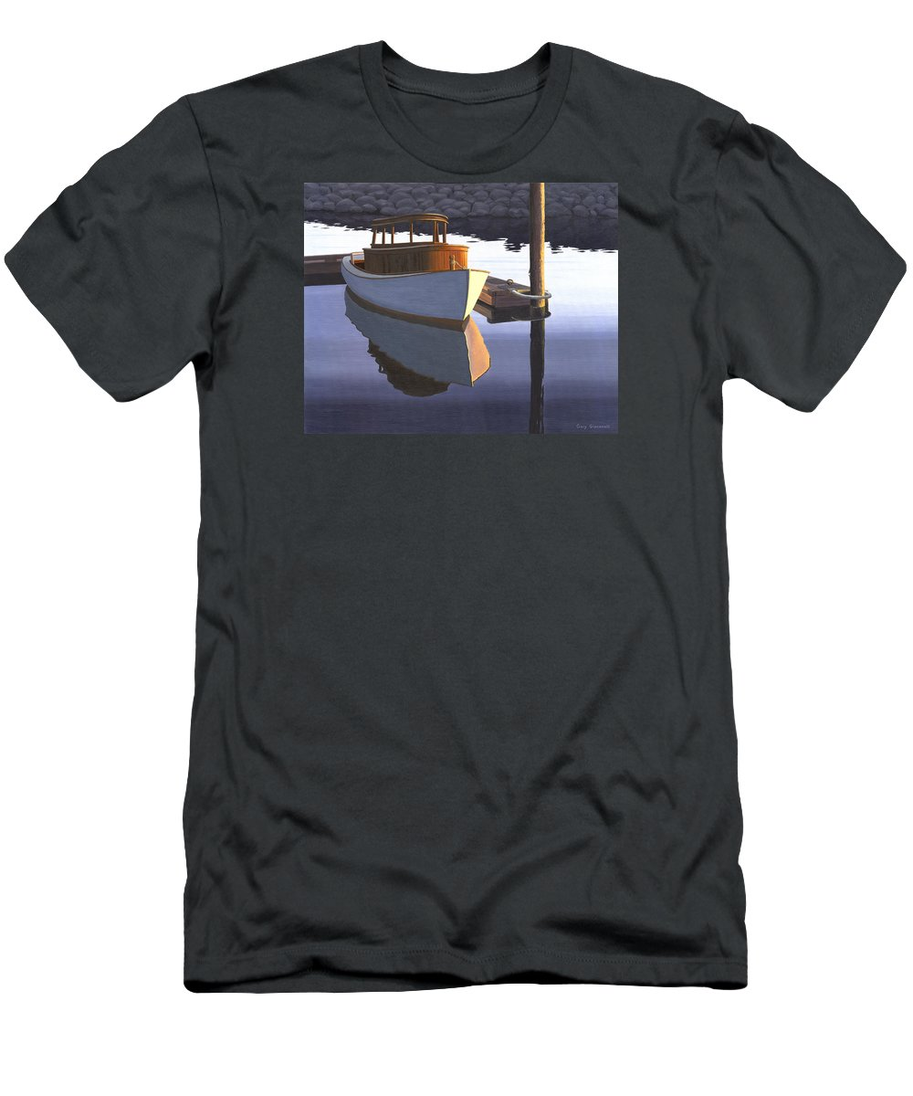Marine T-Shirt featuring the painting Retired fisherman by Gary Giacomelli