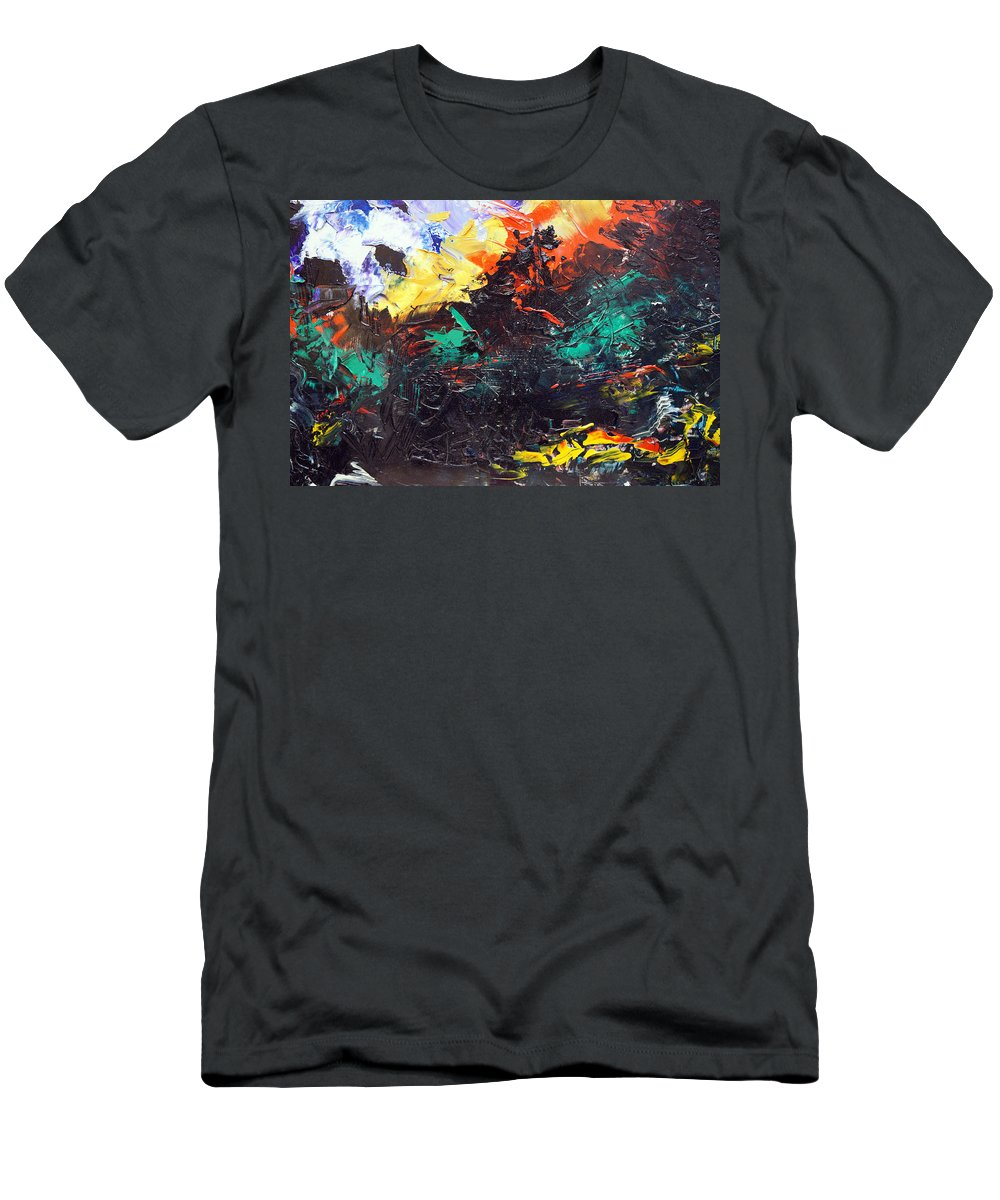 Vision T-Shirt featuring the painting Schizophrenia by Sergey Bezhinets
