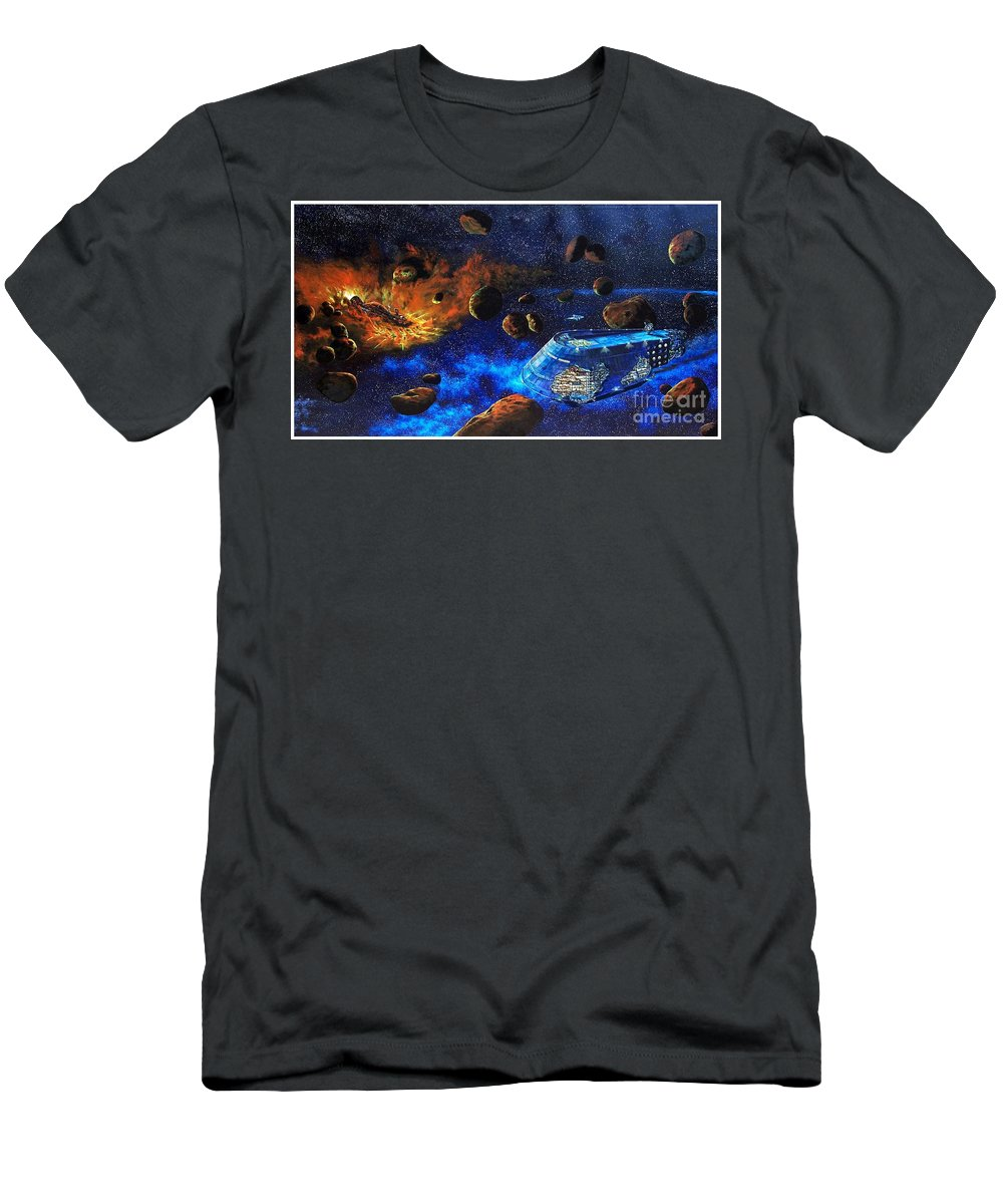 Future T-Shirt featuring the painting Spaceship Titanic by Murphy Elliott